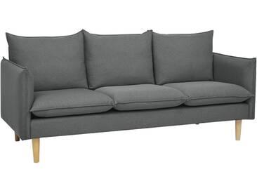 Canapé droit Viktor 3 places gris