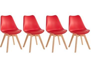 Lot de 4 chaises scandinaves Nola avec coussin