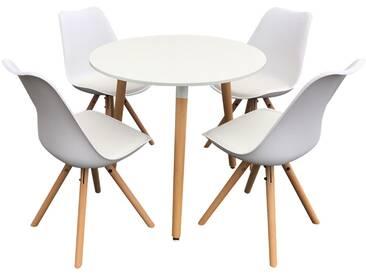Ensemble table et chaises scandinave Rita