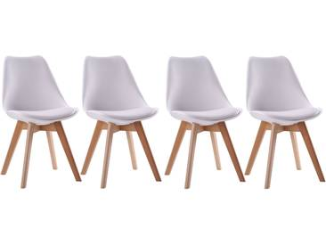 Lot de 4 chaises scandinaves Nora