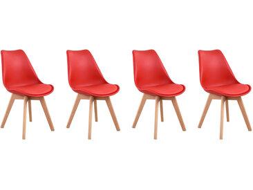 Lot de 4 chaises scandinaves Nora avec coussin
