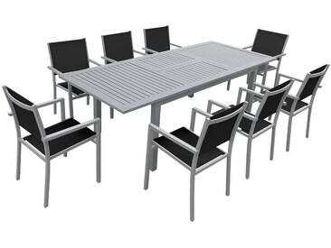 Salon de jardin Capri 8 places table à rallonge