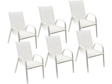 Lot de 6 chaises Marbella
