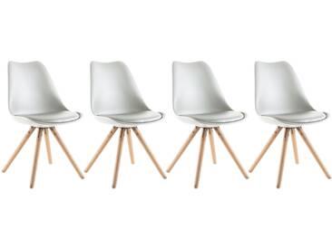 Lot de 4 chaises scandinaves Dita