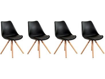 Lot de 4 chaises scandinaves Anita