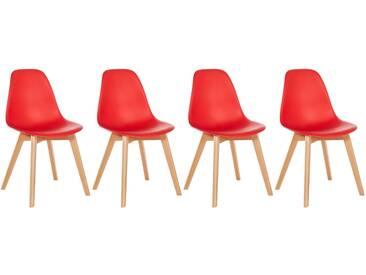 Lot de 4 chaises scandinaves Liz