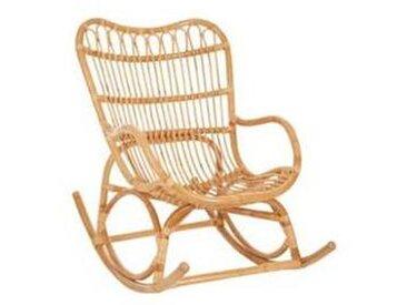 Fauteuil à Bascule Rocking Chair en Rotin Naturel
