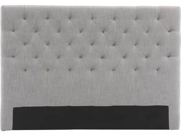 tête de lit tissu gris clair 140 cm ENGUERRAND