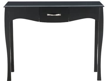 Console design baroque laquée noir MARGOT