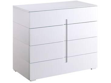 Commode design laquée blanc 4 tiroirs TED