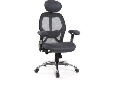Fauteuil de bureau ergonomique gris ULTIMATE V2 plus