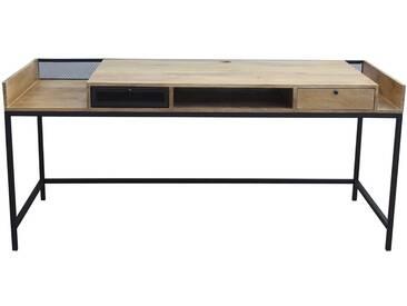 Bureau design en manguier et métal noir L180 RACK