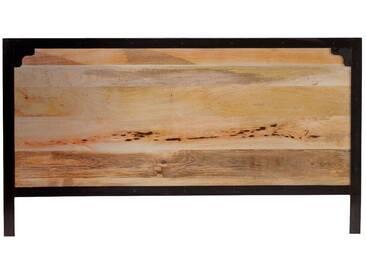 Tête de lit métal et bois de manguier 165 cm INDUSTRIA