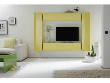 Elément mural TV COLORED horizontal ou vertical Laqué Jaune