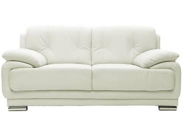 Canapé cuir design blanc 2 places TAMARA - cuir de vache