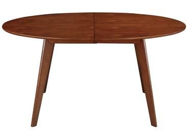 Table à manger extensible design noyer MARIK