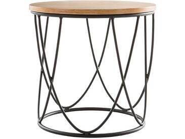 Table dappoint bois et métal 42 cm LACE