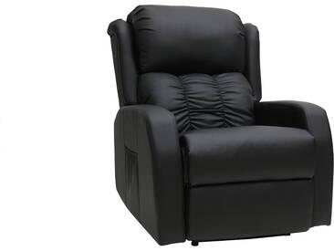 Fauteuil relax électrique massant noir GALLER