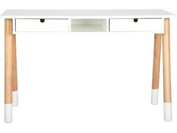 Bureau enfant blanc et bois 120 cm PILOTI