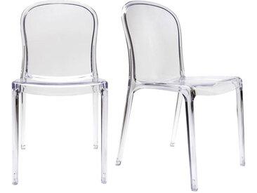 Chaises empilables design transparentes (lot de 2) THALYSSE