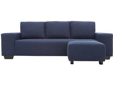Canapé dangle design tissu bleu foncé 3 places DEAUVILLE