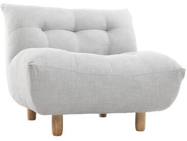 Fauteuil design scandinave gris et chêne YUMI