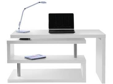 Bureau design blanc mat amovible MAX