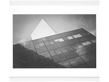 Cadre aluminium pour exposition - 30 x 40 cm blanc