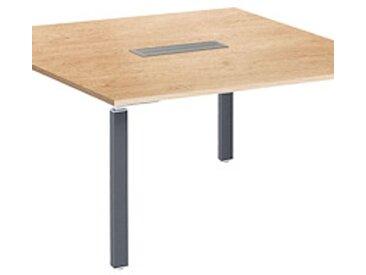 Table carrée chêne Exprim pieds anthracite