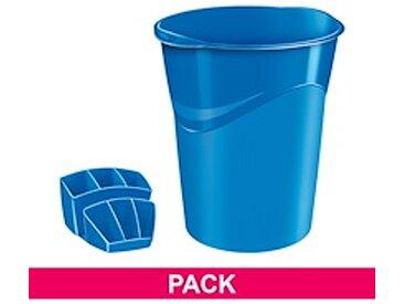 Pack corbeille à papier + multipots Cep Gloss bleu