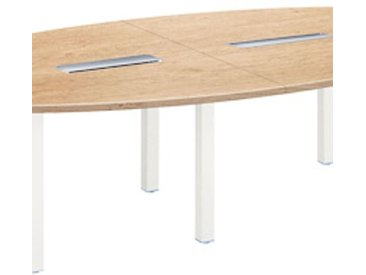 Table de réunion modulaire chêne clair Exprim