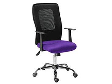 Fauteuil de bureau assise tissu dossier résille Net Mesh violet