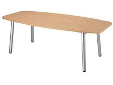 Table de réunion Design - plateau forme Tonneau 210 x 102 cm hêtre