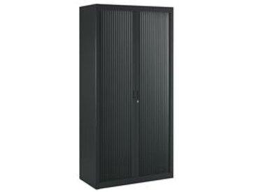 Armoire haute à rideaux démontables Union 180 x 90 cm noir-noir