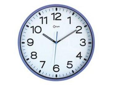 Horloge silencieuse à quartz D 30 cm bleue