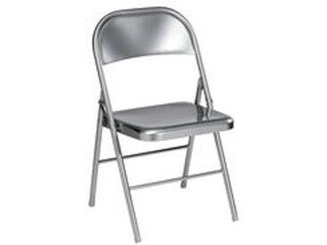 Chaise pliante Métal grise - Lot de 2