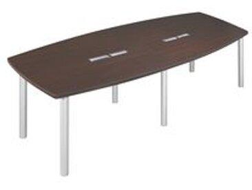 Table modulaire Frégate 14 personnes wengué/alu.