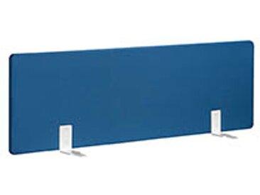 Panneaux écrans acoustiques L 140 cm bleu fixation blanche pour bureaux Bench
