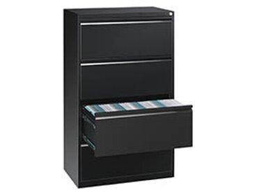 Crédence monobloc à tiroirs noire