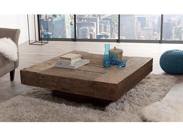 Table basse carrée en teck recyclé massif - Century