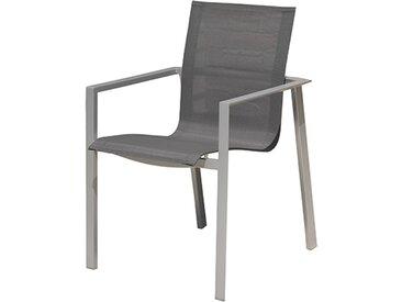 Lot fauteuils jardin empilables gris - Orlando