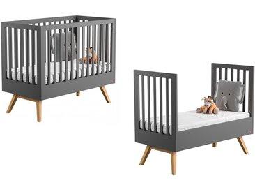 Lit bébé évolutif gris 70 x 140 cm - Nature Vox