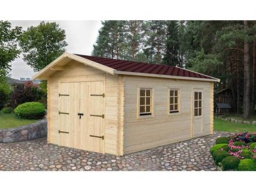 GARAGE EN BOIS MASSIF & TOIT EN SHINGLE 19 M2- ERABLE