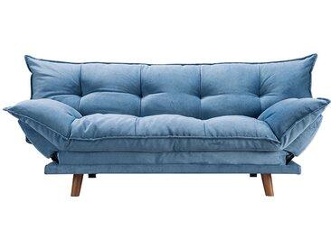 Canapé convertible bleu rembourré scandinave - Pillow