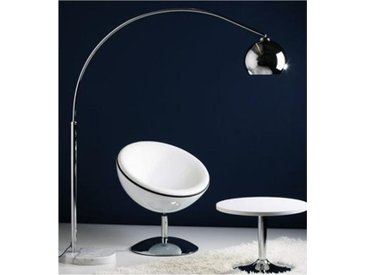 LAMPADAIRE DESIGN ARC CHROME