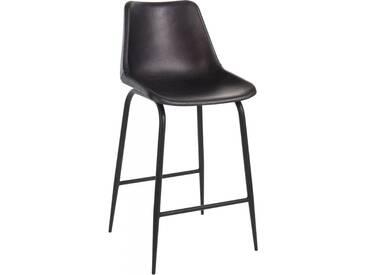 Chaise bar cuir metal BENALLA by J-Line