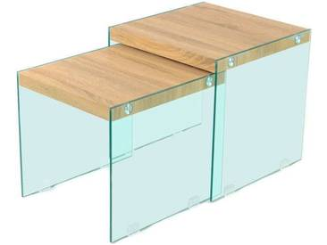 2x Table gigognes NORTH SIDE 110