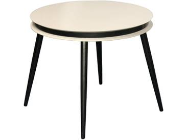 2x tables gigognes SIDE SURI 110 Taupe Noir