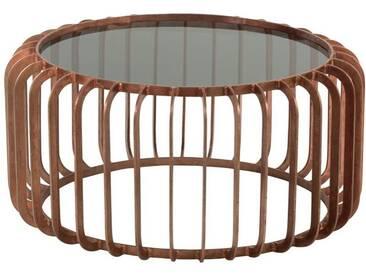 Table basse ronde lignes cuivre BIRDSVILLE by J-Line