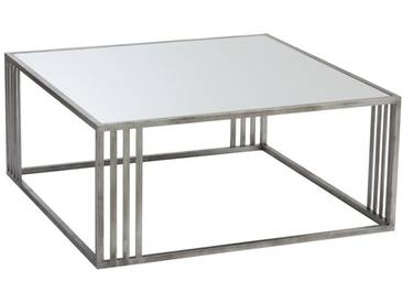 Table basse rectangulaire argent BLACK SPRINGS by J-Line